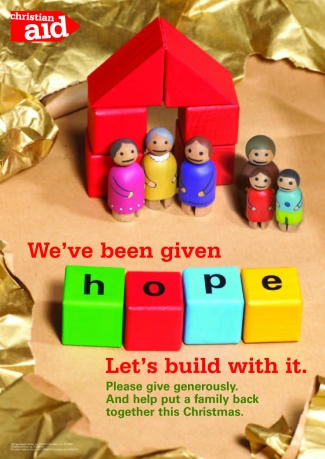 The Brief: to design a series of fundraising materials for Christian Aid's Christmas campaign. The 2004 Boxing Day Tsunami devastated the shorelines of India, Sri Lanka and Indonesia, and 250,000 people were killed. This campaign aimed to raise money to help some of the poorest families to rebuild their lives.