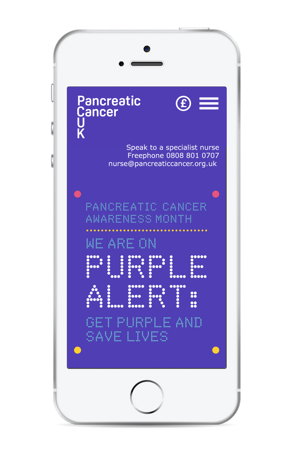 Purple Alert-mobile screen
